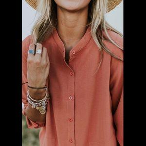 Roolee large Ellarose button front maxi dress